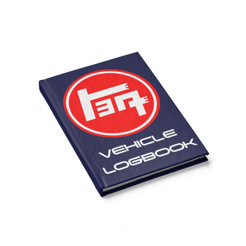 TEQ Toyota Logbook Hardcover lined Journal in Navy Blue