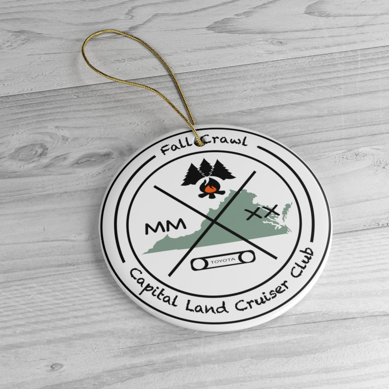Capital Land Cruiser Club - Fall Crawl 2020 - Ceramic Ornaments