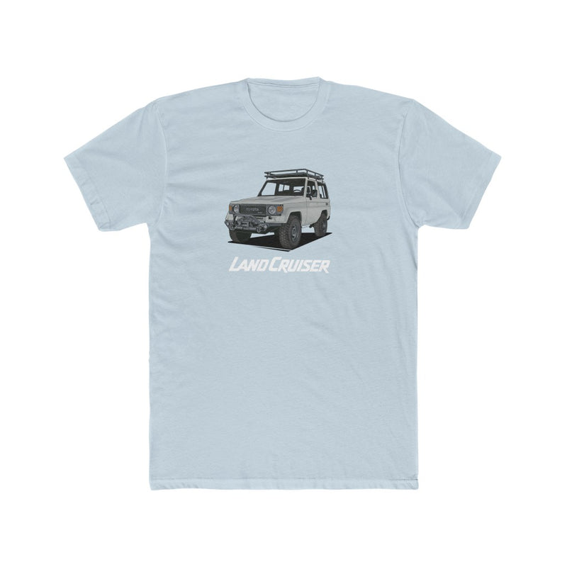 Toyota Land Cruiser 70 Series Tee FJ70 Shirt Men's Cotton Crew Tee by Reefmonkey artist Prisma Denesni