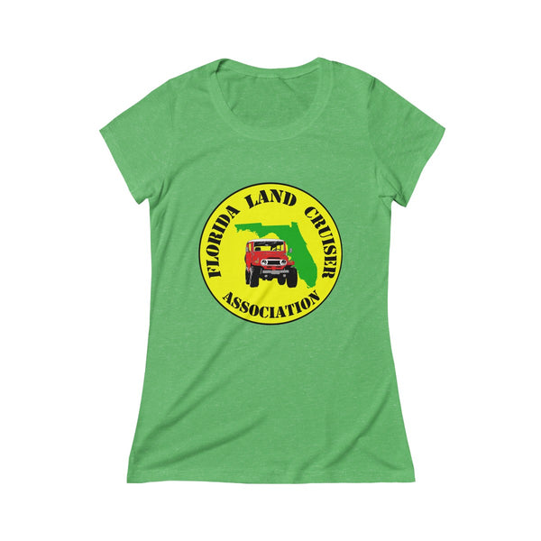 Florida Land Cruiser Association - Womens Tri-Blend Tshirt by Reefmonkey Partner FLCA