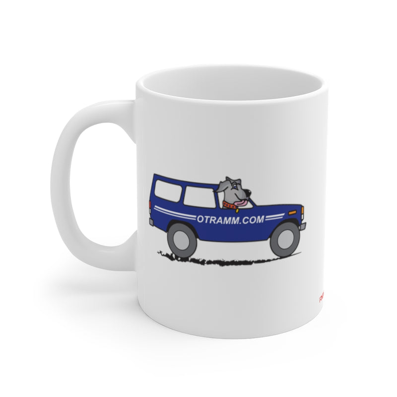 OTRAMM Coffee Mug,  FJ60 Land Cruiser, Land Cruiser Dog Coffee Cup