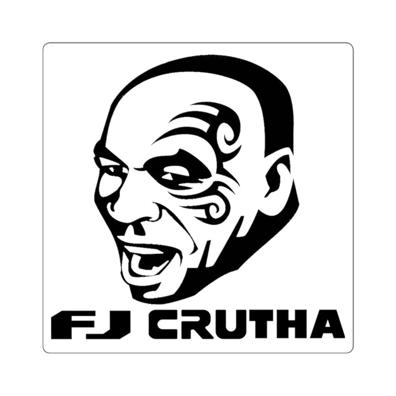 Toyota FJ Cruiser Mike Tyson Sticker Decal 'FJ Crutha' Square Version by Reefmonkey