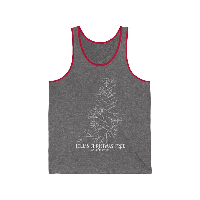 Hell's Christmas Tree - FJ40 Wiring Diagram Tank Top by Reefmonkey FJ45 LandCruiser tshirt
