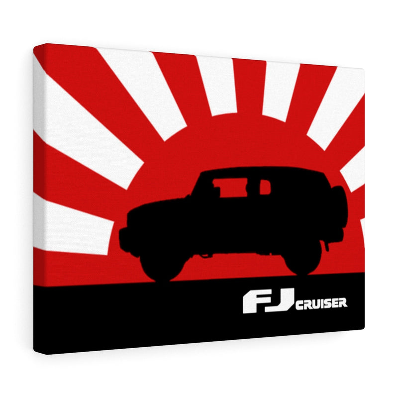 FJ Cruiser Canvas Gallery Wraps Wall art Rising Sun Silhouette Design FJ Cruiser Artwork