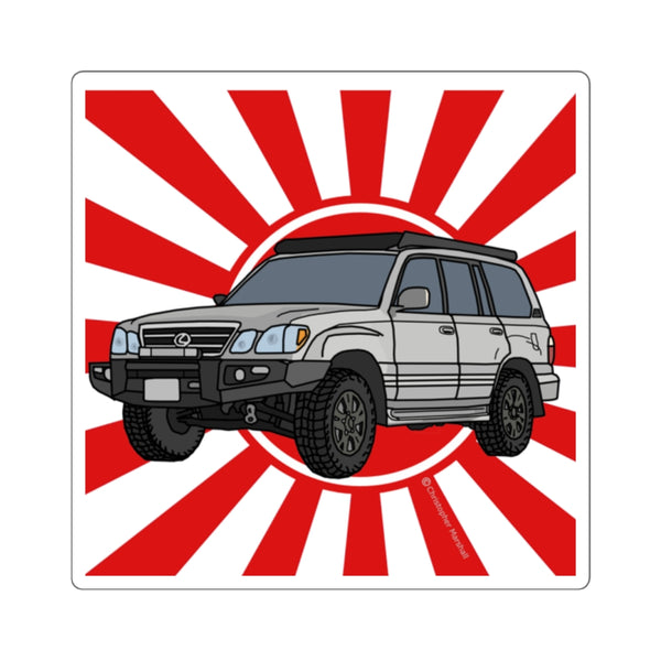 LX470 Lexus Decal by Reefmonkey Artist Chris Marshall (100 Series Land Cruiser)
