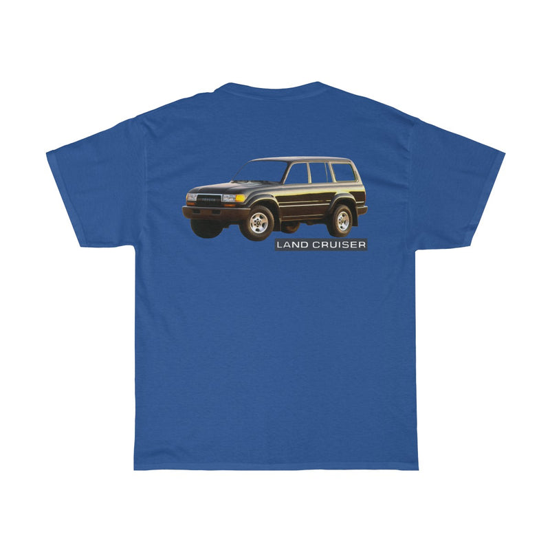 Land Cruiser FJ80/FZJ80 on the back TEQ on the front T shirt by Reefmonkey