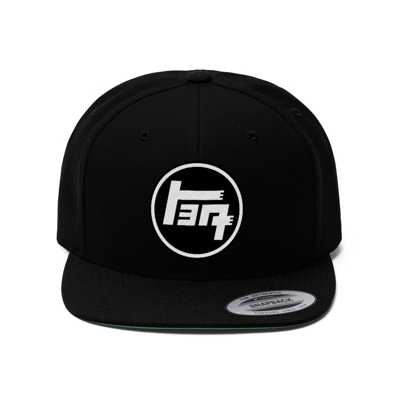 TEQ Toyota Logo Embroidered Flat Brim Hat Black Version