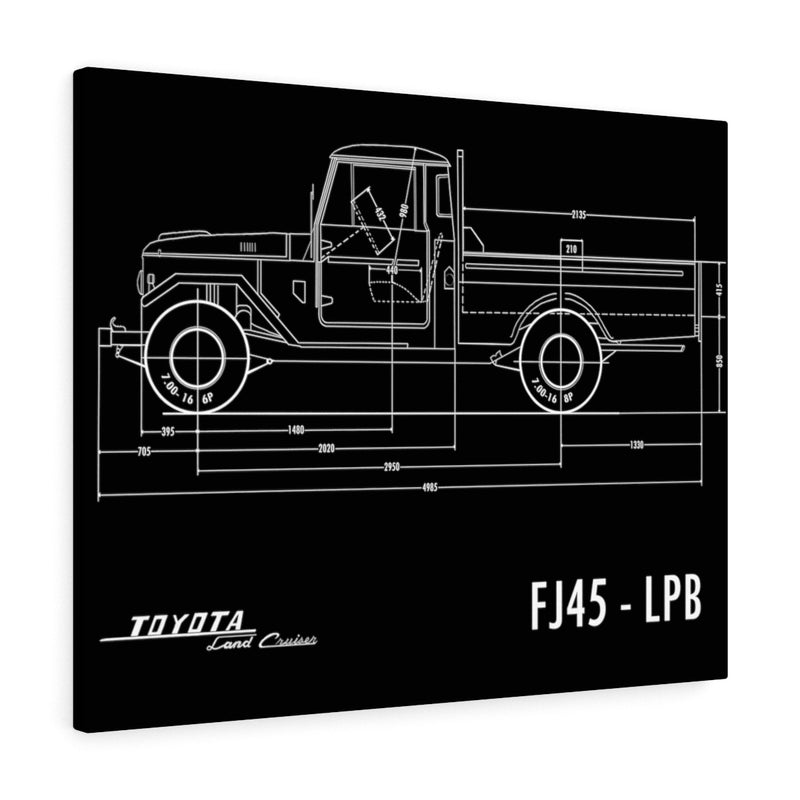 FJ45 Canvas Gallery Wrap Print Poster by Reefmonkey Land Cruiser FJ40 Man Cave