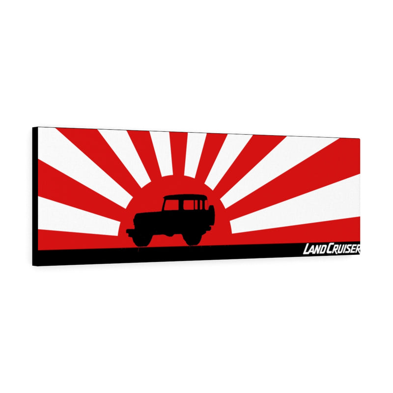 FJ40 Toyota Land Cruiser Canvas Gallery Wraps Wall art Rising Sun Silhouette Design - Long Version