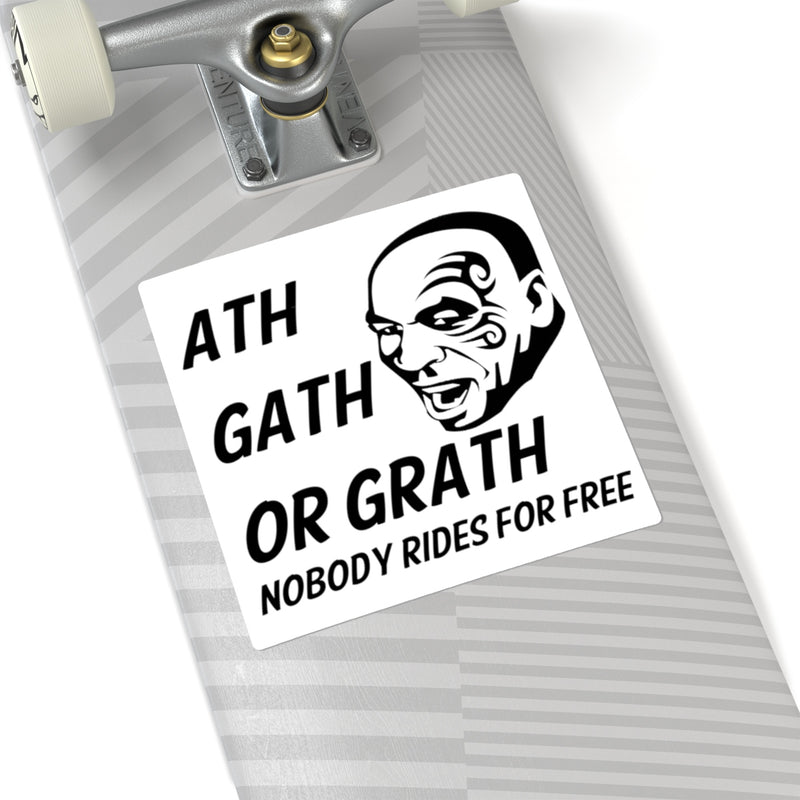 "Mike Tyson Ass Cash or Grass Decal ""ath gath or grath"" Nobody Rides for Free Sticker"