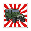 FJ40 Land Cruiser Fridge Magnet by Reefmonkey Artist Chris Marshall
