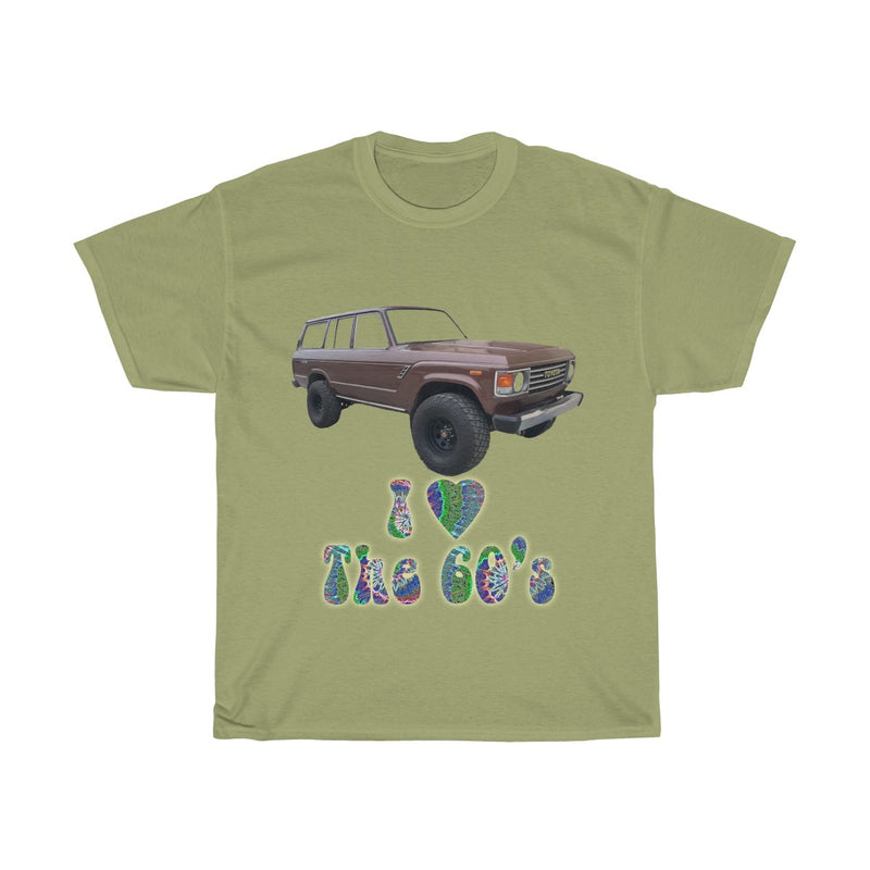 Toyota FJ60 Land Cruiser I Love the 60s T shirt by Reefmonkey