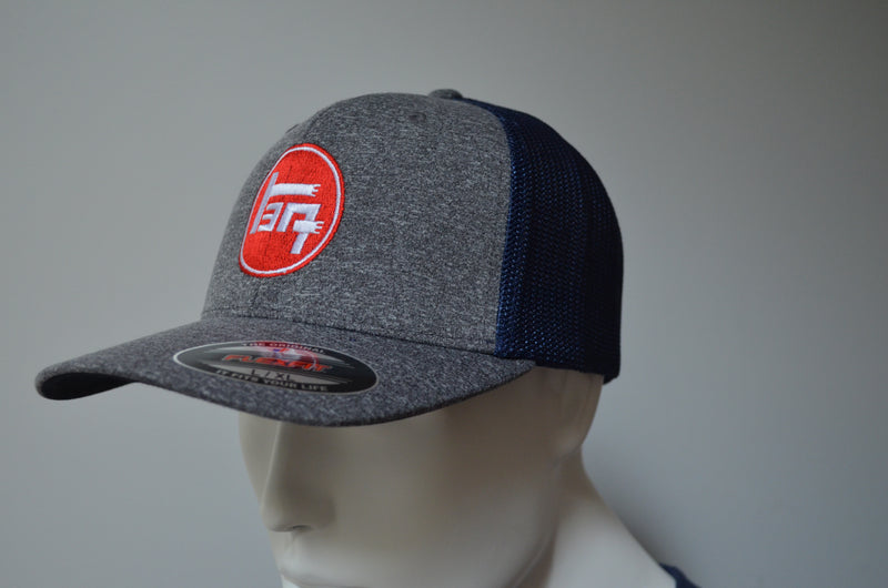 Toyota Fitted Premium Hat - Flexfit Melange Mesh Back Trucker Hat