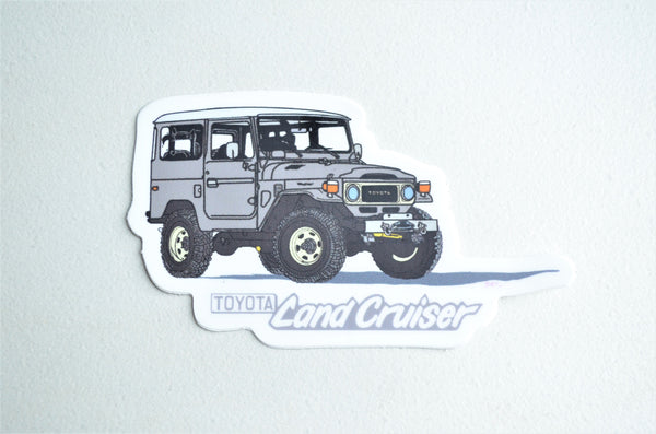FJ40 Land Cruiser Heavy Duty Decal Brody Ploude Artwork