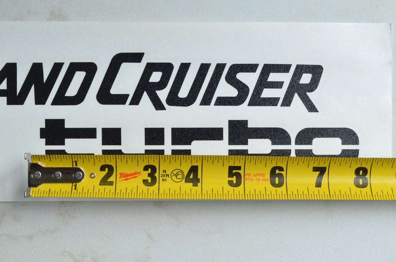 Land Cruiser Turbo - Vinyl Transfer Decal
