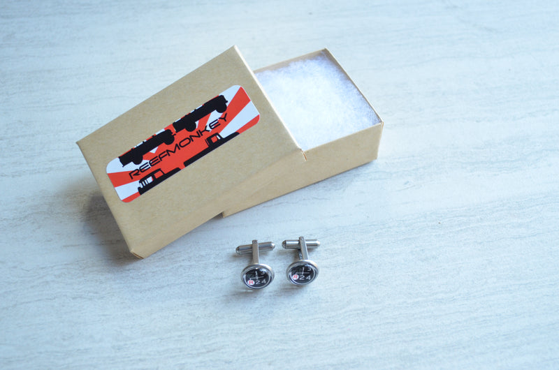 FJ40 Land Cruiser Hubcap Image Cuff Links Toyota Wedding Gifts - Reefmonkey