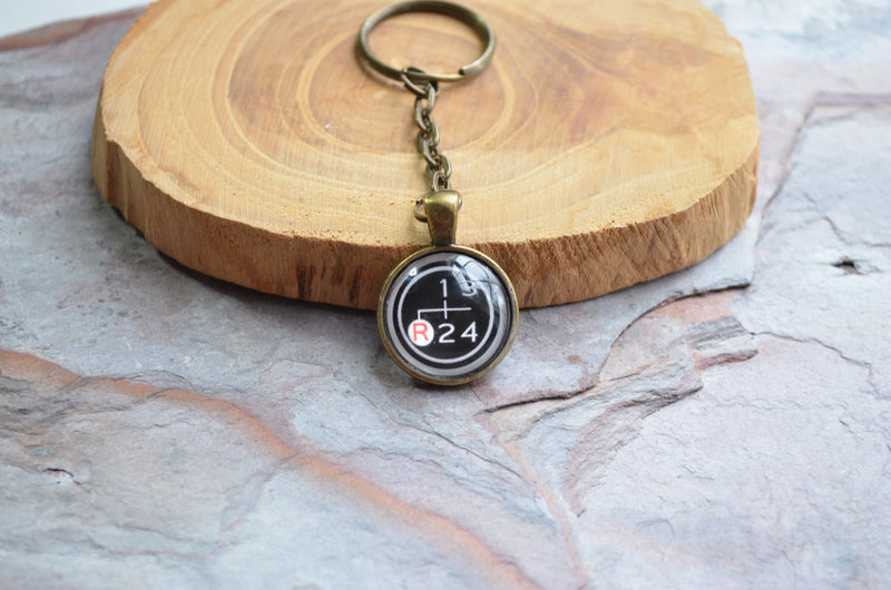 FJ40 Gear Shifter Keychain Handmade Silver Or Brass 4 Speed Shifter