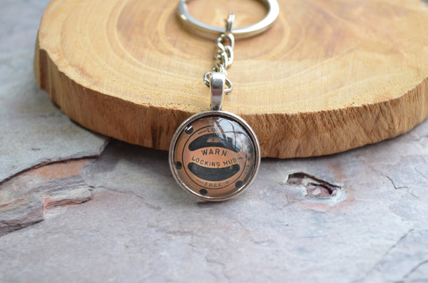 Warn Hubs Key Chain Locking Hubs Handmade Gifts Brass or Silver