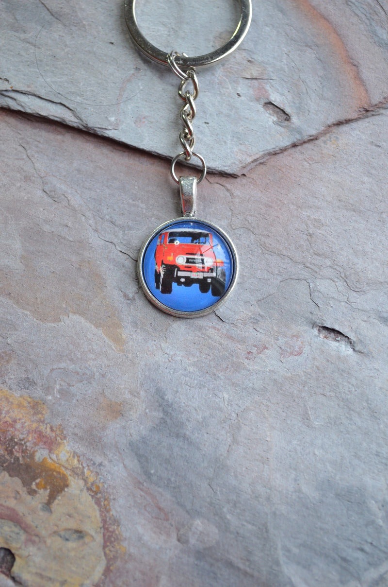 FJ40 Land Cruiser Key Chain FJ40 Handmade Gifts Brass or Silver