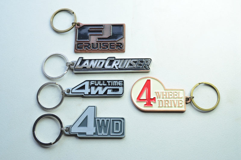 4 Wheel Drive FJ40 Keychain Toyota Land Cruiser Key Chain by Reefmonkey