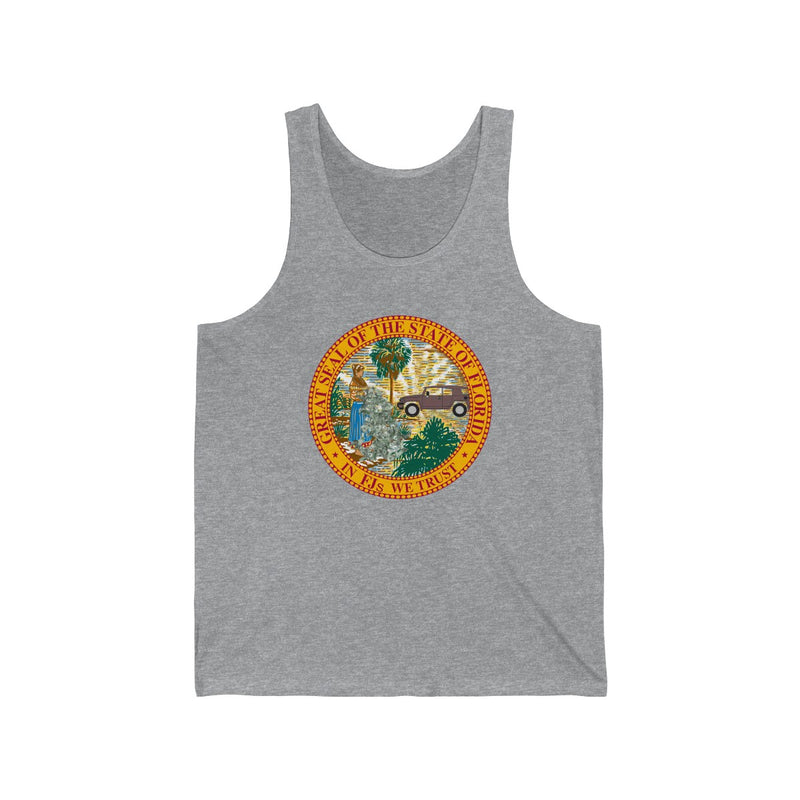 "Florida FJ Cruiser Tank Top shirt ""In FJ's we Trust"" by Reefmonkey"