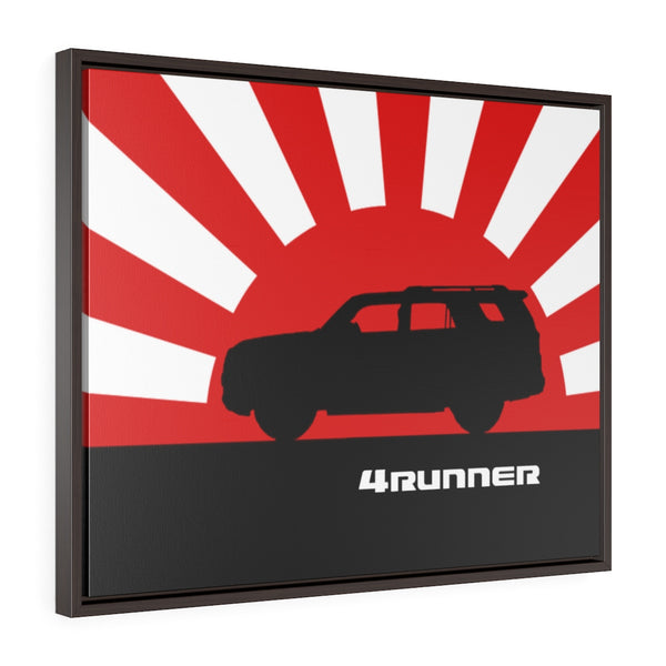 4Runner Framed Canvas Gallery Wraps Wall art Rising Sun Silhouette Design Toyota 4Runner