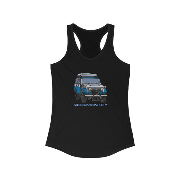 FJ55 Womens Tank Top - Land Cruiser Tank Top - Reefmonkey Artist Chris Marshall