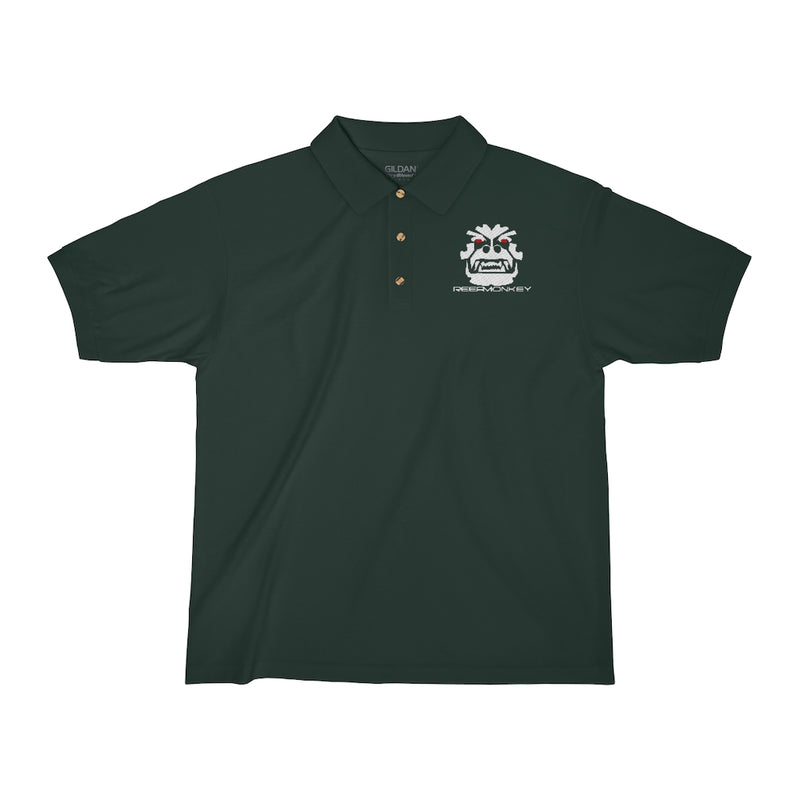 Angry Gorilla - Embroidered Polo Shirt by Reefmonkey