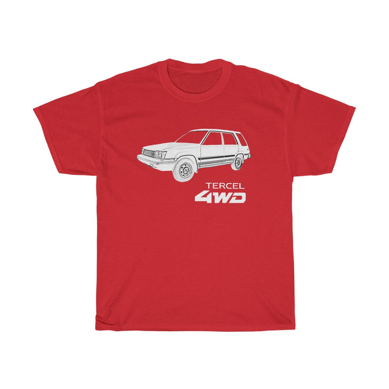 Tercel Toyota 4wd White Logo T-shirt Reefmonkey styles Gifts for car guys