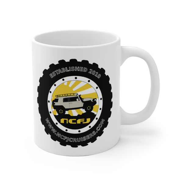 NCFJ Cruisers White Ceramic Mug by Reefmonkey