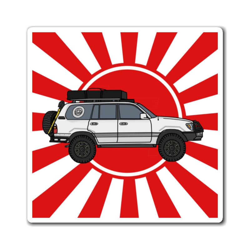 100 Series Land Cruiser Fridge Magnet by Reefmonkey Artist Chris Marshall