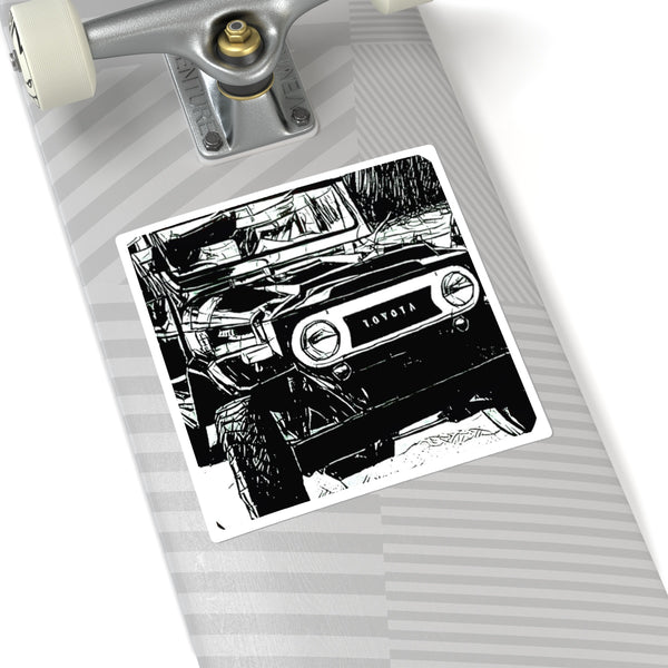 FJ40 Land Cruiser Square Sticker Decal