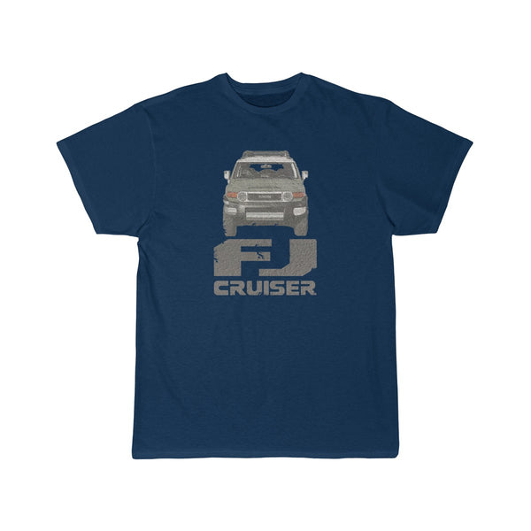 FJ Cruiser Distressed Custom Color: Cement Gray Short Sleeve Tshirt
