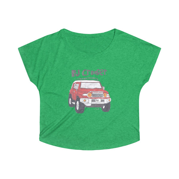 Fj Crooser / FJ Cruiser Kids Art Women's Tri-Blend Dolman tshirt