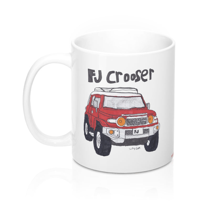 FJ Crooser / FJ Cruiser Kids Art Coffee Mug 11oz