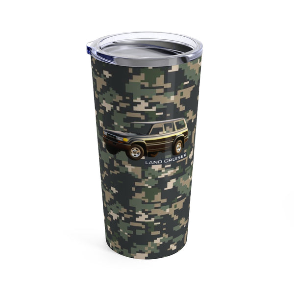 Toyota Land Cruiser 80 Series Camo Travel Mug Tumbler by Reefmonkey
