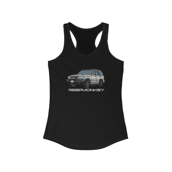 LX470 Womens Tank Top - Land Cruiser Tank Top - Reefmonkey Artist Chris Marshall