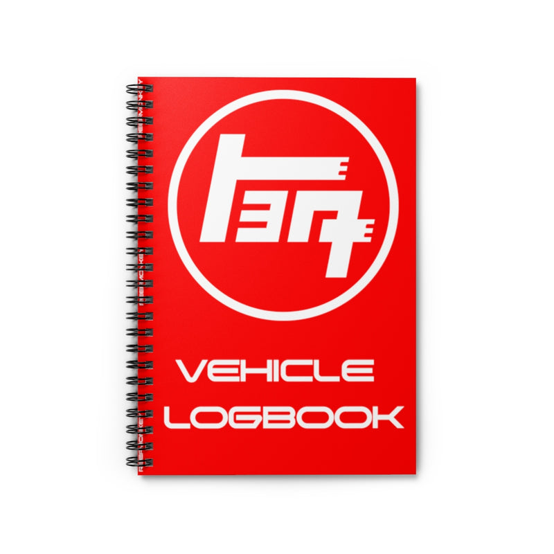 TEQ Toyota Vehicle Logbook Spiral Notebook - Ruled Line