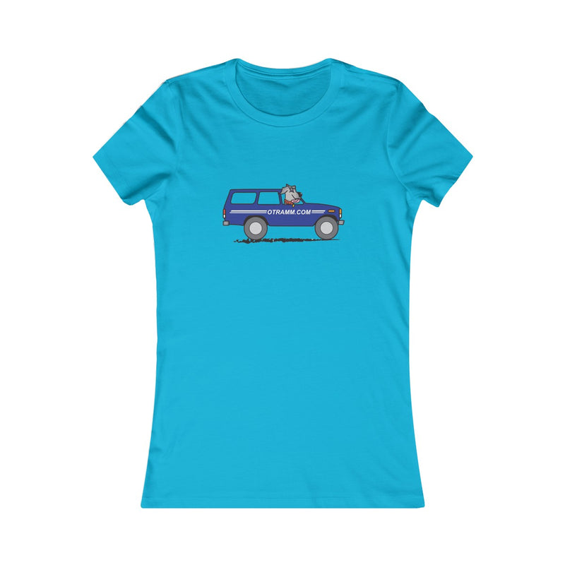 OTRAMM Women's Favorite Tee FJ60 Land Cruiser and Dog Womens Shirt
