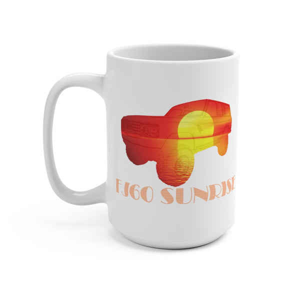 FJ60 Land Cruiser Coffee Mug 15oz by Reefmonkey Artist Matt Lillis