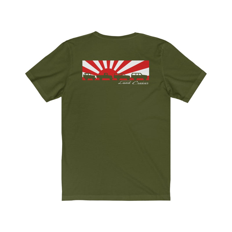 Land Cruiser 40 through 60 series Jersey Short Sleeve Tee Rising Sun FJ40 Gifts by Reefmonkey