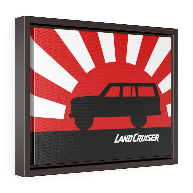 FJ60 Land Cruiser Framed Canvas Gallery Wraps Wall art Rising Sun Silhouette Design