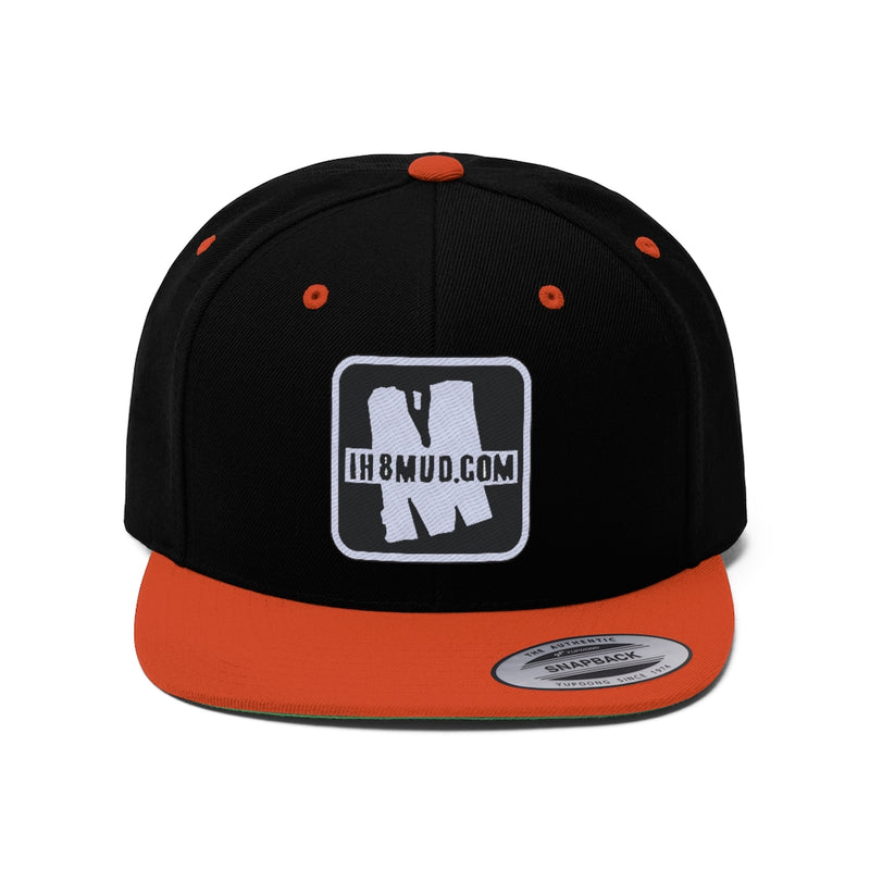 IH8MUD - Ebroidered Flat Brim Snapback Hat - By Reefmonkey partner IH8MUD