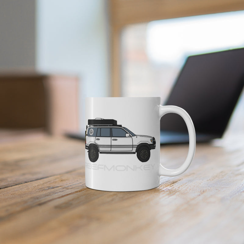 100 series Land Cruiser Coffee Mug - FJ100 Coffee Cup -  Reefmonkey Artist Christopher Marshall