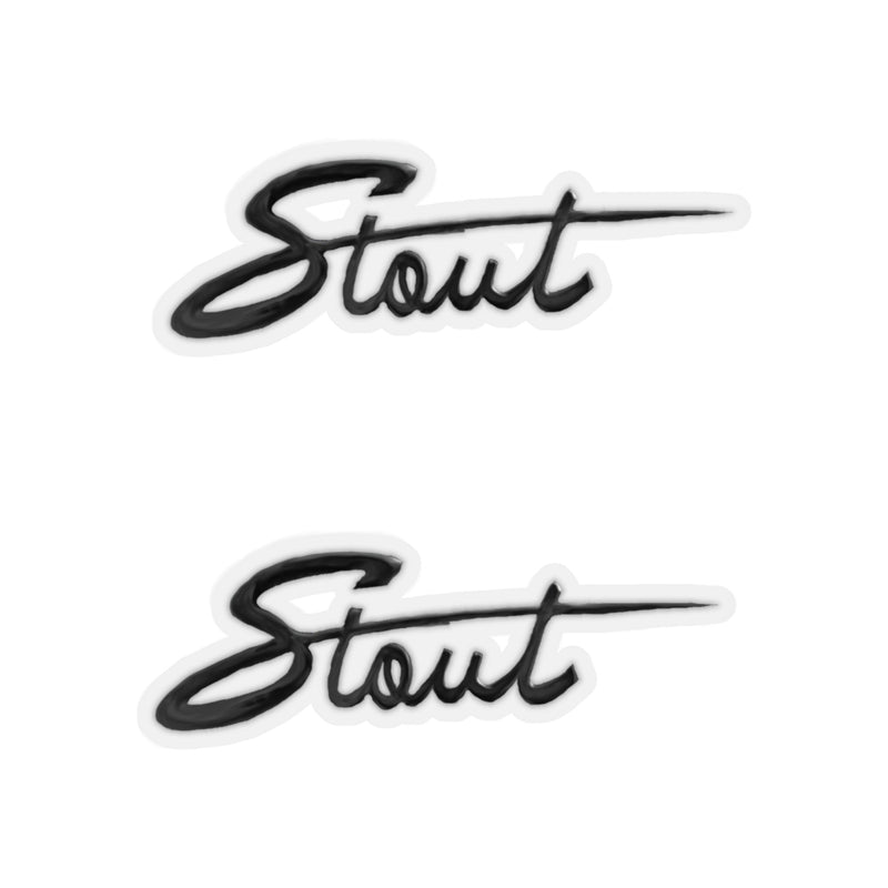 "Toyota Stout ""Double Stout"" Logo Stickers - by Reefmonkey"