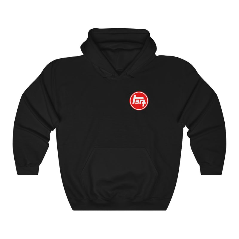 Capital Land Cruiser Club TEQ on the front Unisex Heavy Blend™ Hooded Sweatshirt
