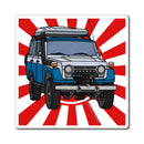 FJ55 Land Cruiser Fridge Magnet by Reefmonkey Artist Chris Marshall