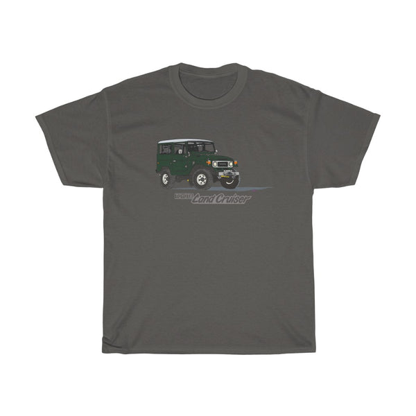 FJ40 Land Cruiser in Dark Green T Shirt by Reefmonkey Artist Brody Plourde