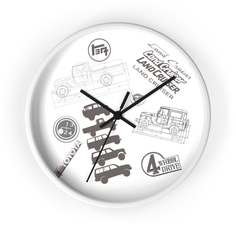 Land Cruiser Gray Clock by Reefmonkey