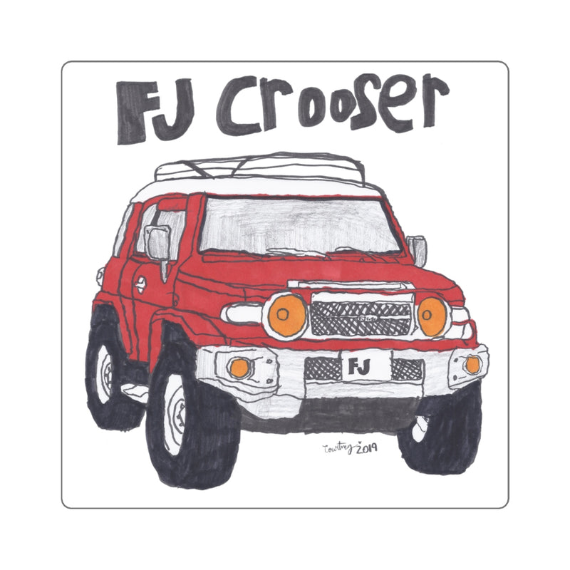 FJ Crooser / FJ Cruiser Kids Art Square Stickers